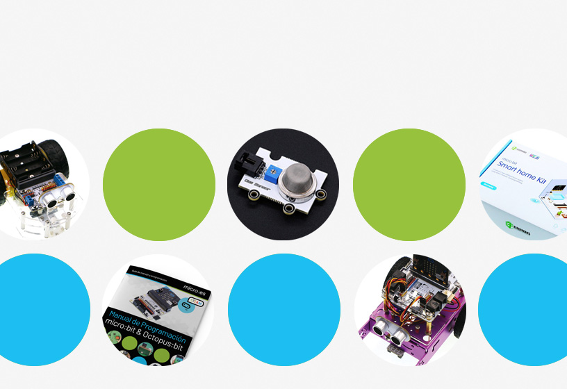 Ampliaciones y packs con manual educativo para microbit
